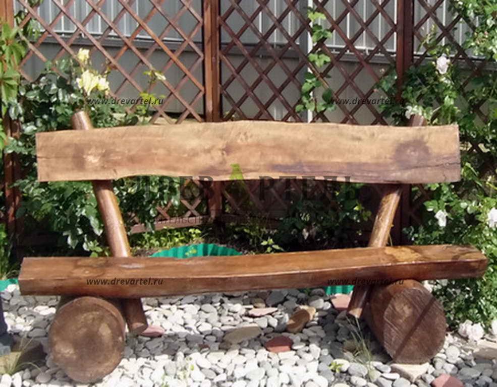 Простые из дерева в саду своими руками